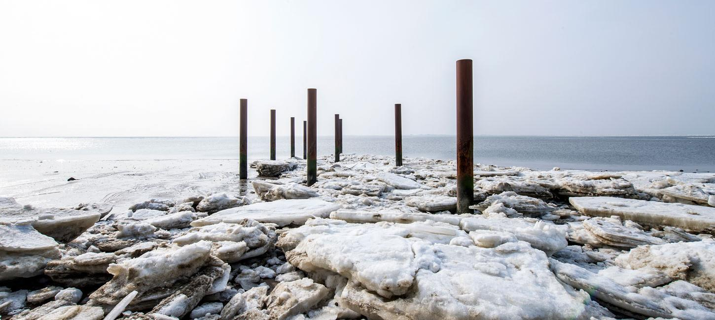 Winter at Hjerting Strand  By the Wadden Sea