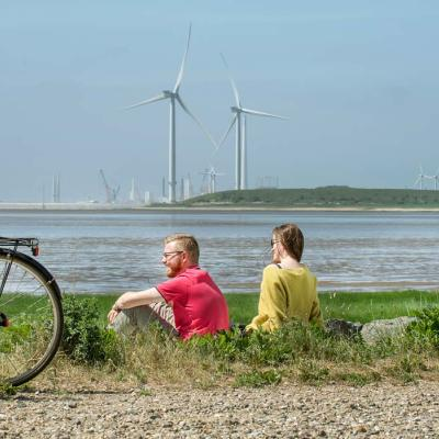 Wind turbines at Esbjerg | By the Wadden Sea