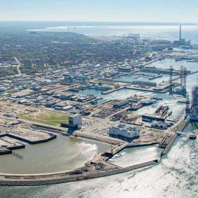 Port of Esbjerg - aerial photo | By the Wadden Sea